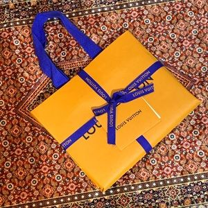 Louis Vuitton wrapped city guide gift